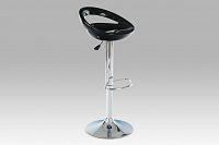 Barová židle plastová černá AUB-1030 BK AKCE