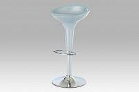 Barová židle stříbrná plast AUB-9002 SIL
