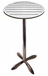 Barový hliníkový stůl kulatý 60 cm MTA 010