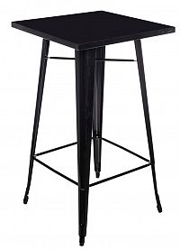 Barový kovový stůl 60x60 cm v černé barvě DO047