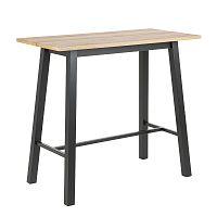 Barový stůl 117x58 cm v dekoru dub s černou podnoží DO186