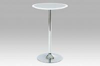 Barový stůl bílo-stříbrný plastový AUB-6050 WT