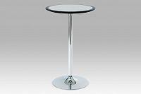 Barový stůl černo-stříbrný plastový AUB-6050 BK