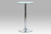 Barový stůl čiré sklo AUB-6070 CLR AKCE