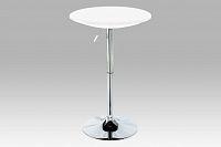 Barový stůl výškově nastavitelný bílý AUB-5010 WT