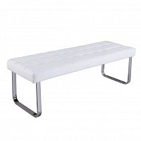 Bílá lavice z ekokůže TK058