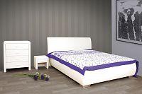 Čalouněná postel 160x200cm, koženková s prošitím MONA