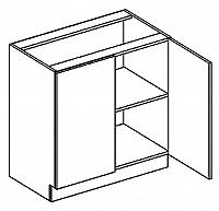 D80 dolní skříňka dvojdvéřová PREMIUM olše