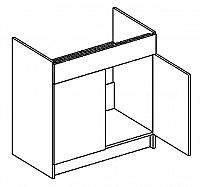 D80ZL dolní skříňka pod dřez sonoma KN2000