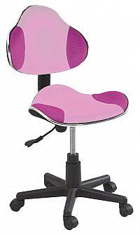 Dětská kancelářská židle - růžová/fialová KN045