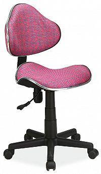 Dětská kancelářská židle s růžovým vzorem KN045