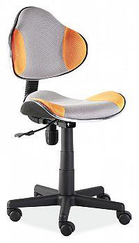 Dětská kancelářská židle - šedá/oranžová KN045