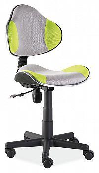 Dětská kancelářská židle - šedá/zelená KN045