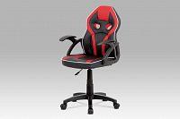Dětská kancelářská židle v černo-červené barvě KA-N664 RED