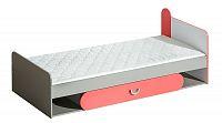Dětská postel 195x80 cm s možností výběru barvy s roštem a úložným prostorem typ F13 KN742