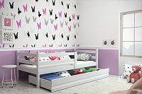 Dětská postel 90x200 cm z borovicového dřeva v bílé barvě F1274