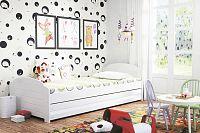 Dětská postel s úložným prostorem v bílé barvě 90x200 cm F1393
