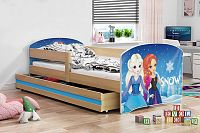Dětská postel z borovicového dřeva s motivem ledového království 80x160 cm F1367