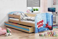Dětská postel z borovicového dřeva s motivem superhrdiny 80x160 cm F1367