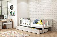 Dětská postel z borovicového dřeva v bílé barvě 80x160 cm F1176