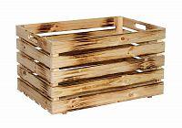 Dřevěná bedýnka opalovaná 60x40 cm