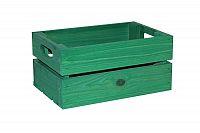 Dřevěná bedýnka zelená 30x20 cm