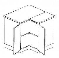 DRP dolní rohová skříňka BIANCA