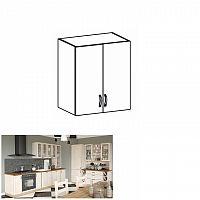 Horní dvoudveřová skříňka, sosna skandinávská / dub divoký, ROYAL G60