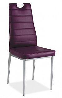 Jídelní čalouněná židle H-260 fialová/chrom