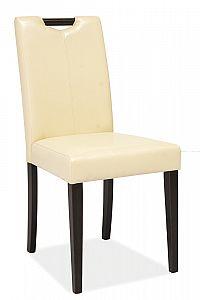 Jídelní čalouněná židle v krémové barvě a dekoru wenge KN275