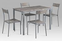 Jídelní set 4+1 v moderním šedivém provedení s MDF betonovým dekorem JEREMY BET