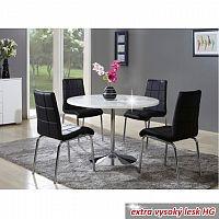 Jídelní stůl v luxusním jednoduchém designu bílá v extra vysokém lesku PAULIN