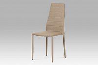 Jídelní židle celočalouněná látkou cappuccino DCL-423 CAP2