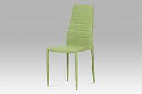 Jídelní židle celočalouněná zelenou látkou DCL-423 GRN2
