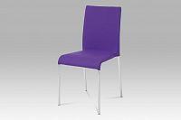 jídelní židle chrom / látka fialová WE-5010 PUR2