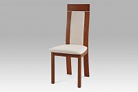 Jídelní židle dřevěná dekor třešeň a potah krémová látka BC-3921 TR3
