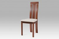 Jídelní židle dřevěná dekor třešeň a potah krémová látka BC-3931 TR3