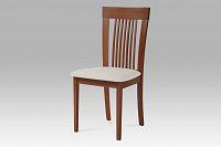 Jídelní židle dřevěná dekor třešeň a potah krémová látka BC-3940 TR3 AKCE