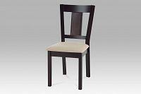 Jídelní židle dřevěná dekor wenge a potah krémová látka WDC-155 BK