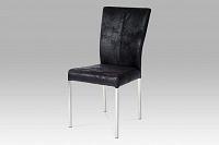 Jídelní židle látka černá (imitace broušené kůže) DCH-631 BK3