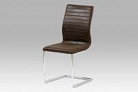 Jídelní židle látková tmavě hnědá HC-038-1 BR3