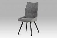 Jídelní židle očalouněná koženkou a látkou v šedivé barvě DCH-351 GREY2