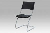 Jídelní židle plastová černá B161 BK