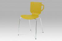 Jídelní židle plastová s praktickým uchem v barvě kari  CT-388 KARI