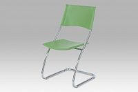 Jídelní židle plastová zelená B161 GRN