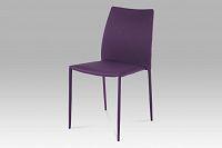 Jídelní židle stohovatelná fialová WE-5015 LILA2