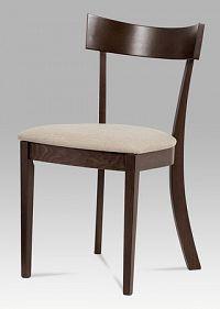 Jídelní židle v dekoru ořech se sedákem v krémové barvě BC-3333 WAL