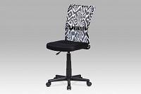 Kancelářská židle dětská látka MESH černá s motivem KA-2325 BKW