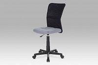 Kancelářská židle dětská látka MESH šedá a černá KA-2325 GREY