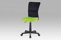 Kancelářská židle dětská látka MESH zelená a černá KA-2325 GRN